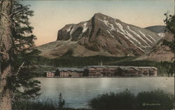 Many Glacier Hotel and Lake McDermott