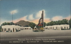Picturesque View of the Legendary Tucumcari Mountain Postcard