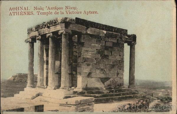 Athenes. Temple de la Victoire Aptere