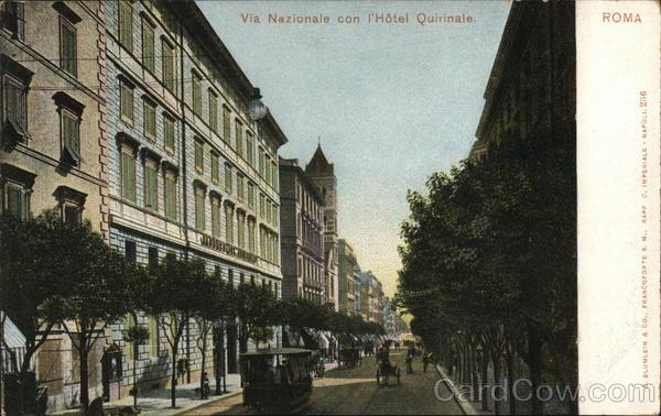 Via Nazionale con l'Hotel Quirinale