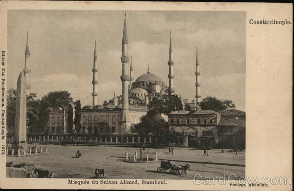 Mosquee du Sultan Ahmed, Stamboul (Mosque) Istanbul Turkey