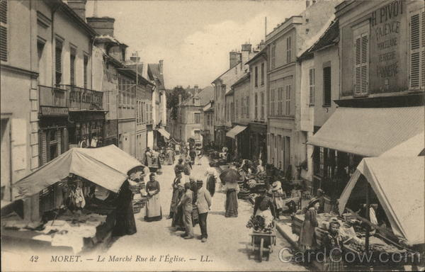 The Market on Rue De L'Église Moret-Sur-Loing France