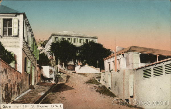 Government Hill St. Thomas Danish West Indies Caribbean Islands
