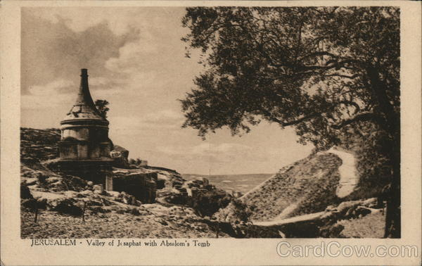 Jerusalem - Valley of Josaphat with Absalom's Tomb Israel