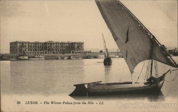 The Winter Palace from the Nile Luxor Egypt Africa