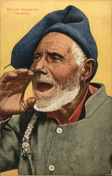 Costume of a Neapolitan fisherman Naples Italy