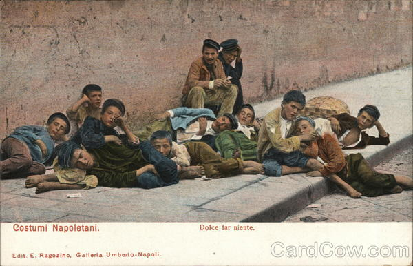Sweet to do nothing - boys resting Naples Italy