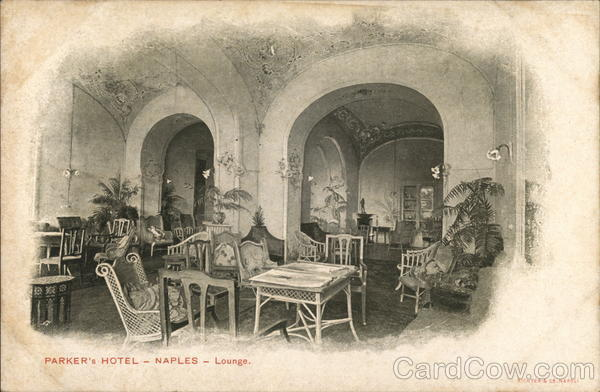 Lounge at the Parker's Hotel Naples Italy