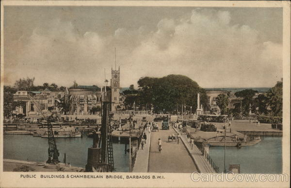 Public buildings & Chamberlain Bridge Bridgetown Barbados