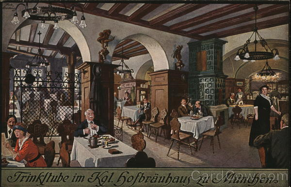 Trinkltube im Kgl. hofbrauhaus zu Munchen