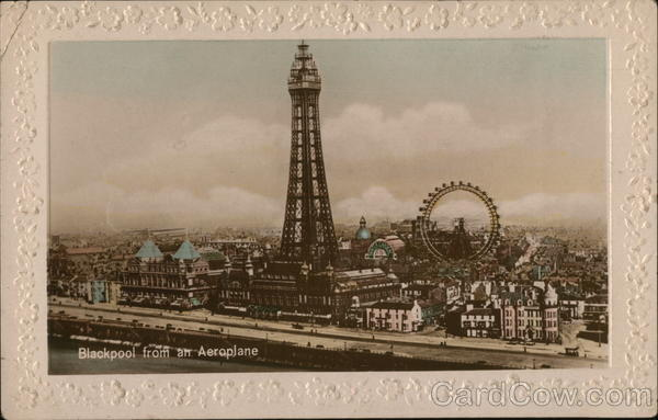 Blackpool from an Aeroplane United Kingdom Lancashire