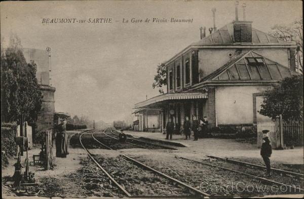 Beaumont - sur Sarthe - La Gare de Vivoin Beaumont