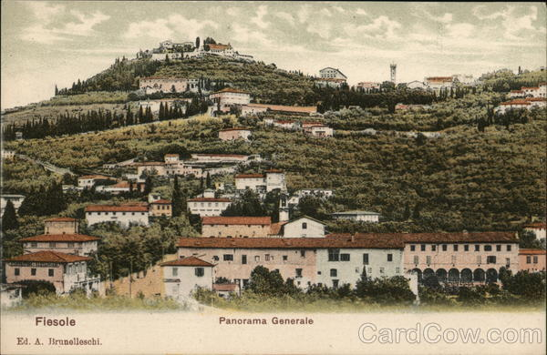 Fiesole Panorama Generale Italy