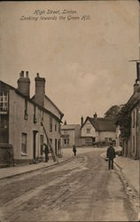 High street, Linton. Looking towards the Green Hill Postcard