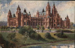 Art Galleries, Glasgow Postcard