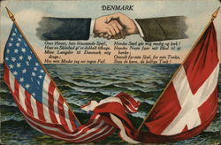 Danish-American friendship Postcard