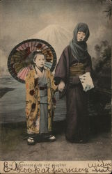 Japanese Lady and Daughter