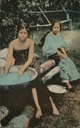 Washing Clothes Postcard