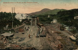 Stone Crusher at Work on the Panama Canal
