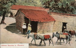 Adobe houses in Mexico