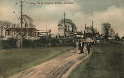 Crossing the Wymering Fields, Portsmouth Postcard