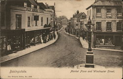 Market Place and Winchester Street Postcard