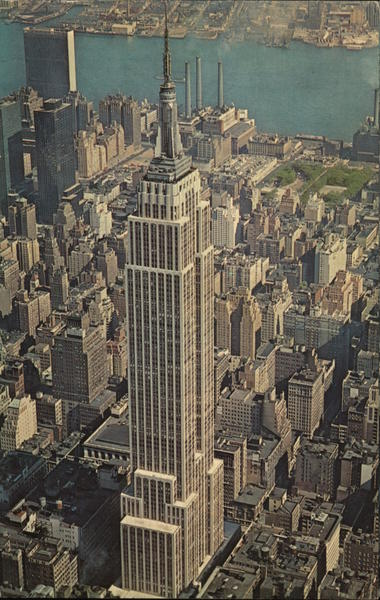 Aerial View of Empire State Building New York