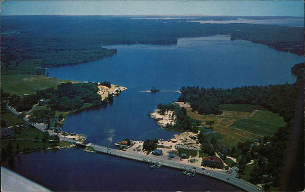 Aerial View of Naples Causeway Maine
