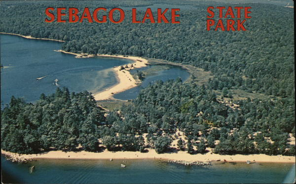 Air View of Sebago Lake Naples Maine