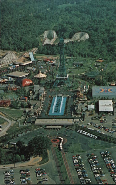 Aerial View of Kings Island Ohio