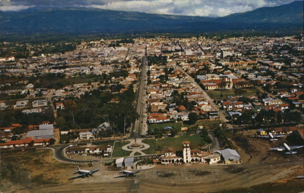 Aerial View of City San Jose Costa Rica Central America
