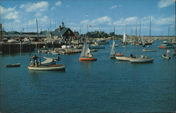 Yacht Club and Basin from Star Island, Cape Ann Rockport Massachusetts