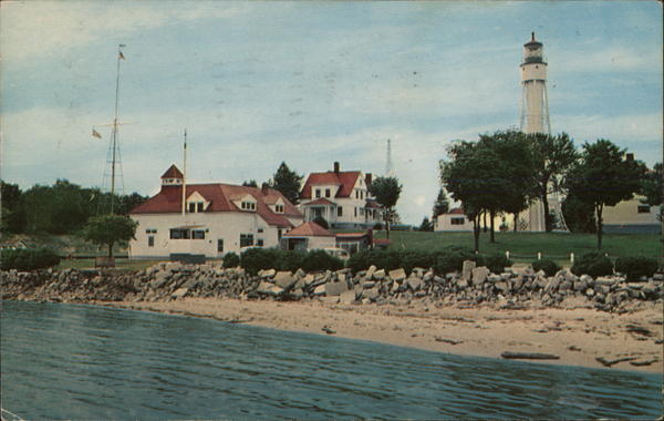 Coast Guard Station and Light House at Sturgeon Bay Ship Canal, Door County Wisconsin