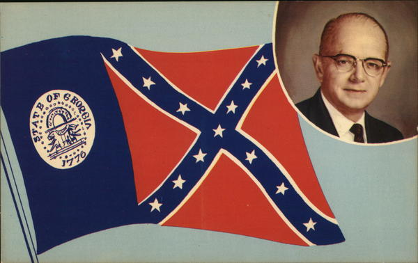 Georgia Governor Lester Maddox and the Georgia Flag