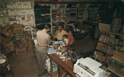 Indians Trading Their Handwork For Supplies With Trader Fred, Santo Domingo Indian Trading Post