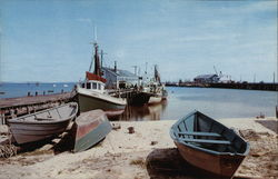 Provincetown Waterfront Scene Postcard
