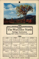 1965 Calender from The Worcester North Savings Institution