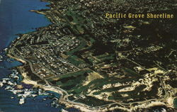 Aeriel View of Pacific Grove Shoreline and Lovers Point