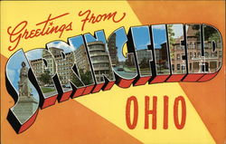 Greetings from Springfield, Ohio Postcard