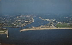 Air View of Falmouth Harbor, Cape Cod