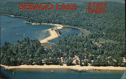 Air View of Sebago Lake Postcard
