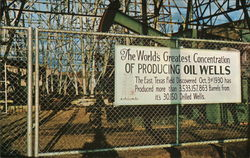The World's Greatest Concentration of Producing Oil Wells Postcard