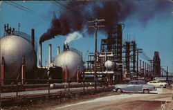 Refinery Scene Typical in the Beaumont - Port Arthur- Orange Area of Texas