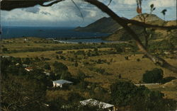 View From the Rolling Hills Overlooking the Tiny French Village of Grand Case