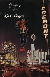 Electric Neon Signs on Fremont Street Postcard
