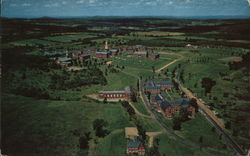 Airview of the Colby College Campus on Mayflower Hill