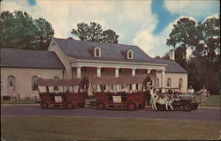 Conestoga Wagon Train, Stephen Foster Memorial Postcard