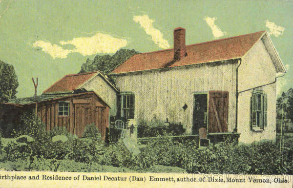 Birthplace And Residence Of Daniel Decatur Emmett Vernon Ohio