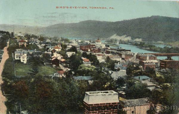 Bird's Eye View Towanda Pennsylvania
