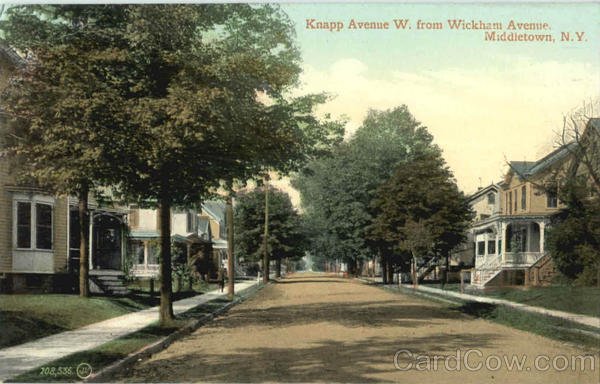 Knapp Avenue W. From Wickham Avenue Middletown New York